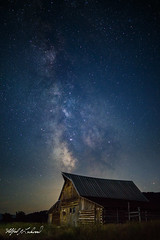 Milky Way Over Moulton Barn_27A1154 (Alfred J. Lockwood Photography) Tags: alfredjlockwood nature nightscape nightsky stars milkyway tamoultonbarn summer building grandtetonnationalpark wyoming