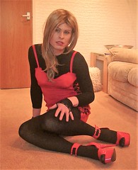 Not always smiling (Miss Nina Jay) Tags: trannie tights heels always lovely but