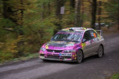 Mitsubishi Lancer EVO IX (4oClock) Tags: llanrwststage wrc national ss19 gwydir wrgb walesrallygb rally motorsport dayinsure speed panning car nikon dslr d90 70210 forest legend classic fun action wales mitsubishi lacer evo ix 9 evolution japanese 108 danmoss