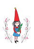Christmas card design 2017 - Tonttu elf with plant friend (Heidi Burton / Making Strangers) Tags: tonttu christmaself joulutonttu christmascarddesign illustration christmasplant greetingcard heidiburton contemporaryillustration