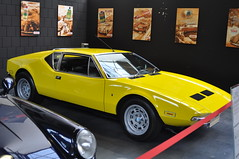 DeTomaso Pantera L I 1973 (Transaxle (alias Toprope)) Tags: detomaso pantera gtl seriesi 1973 rmr rmrlayout midship midengine midshiprunabout midshipengine centralengine motore motor meilenwerk classicremise berlin nikon d90 auto autos antique amazing beauty bella beautiful cars car coches coche classic classics carros carro clasico design dreamcar exotic ghia vignale tom tjaarda tomtjaarda 58liter engine ford 351 cleveland v8 yellow giallo historic italia italy italian iconic italianblood italiane italauto macchina macchine oldtimer power powerful retro soul styling sport toprope voiture vintage voitures vehicle exotics