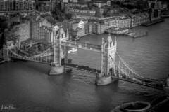 Tower Bridge, London (mattpacker1978) Tags: bridge river london tower 1894 suspension canon canon700d canondigital canonphotography canonlife blackandwhite bw nocolour nocolor landscape landmark 24105 city cityscape monochrome water boat building