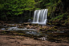 On the trail (The Frustrated Photog (Anthony) ADPphotography) Tags: breconbeacons category places riverneath theelidirtrail travel wales waterfall longexposure river creek stream gorge rocks trees tree forest woodland stone waterfalls fallingwater force silkwater silkywater waterblur canon1585mm canon70d canon nature natural green rural countryside outdoor sgwdddwliuchaf uppergushingfalls landscapephotography travelphotography water rock