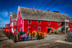 The Big Red Barns (Kev Walker ¦ 7 Million Views..Thank You) Tags: bluenose boats building canada canon1855mm canon700d clouds colonialsettlement colorfull digitalart fairhavenpeninsula hdr historic lunenburg novascotia panorama panoramic picturesque postprocessing ship town water waterfront worldheritagesite