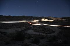 Heading east at night (Rail explorer) Tags: cajonpass bnsf up cpsilverwood