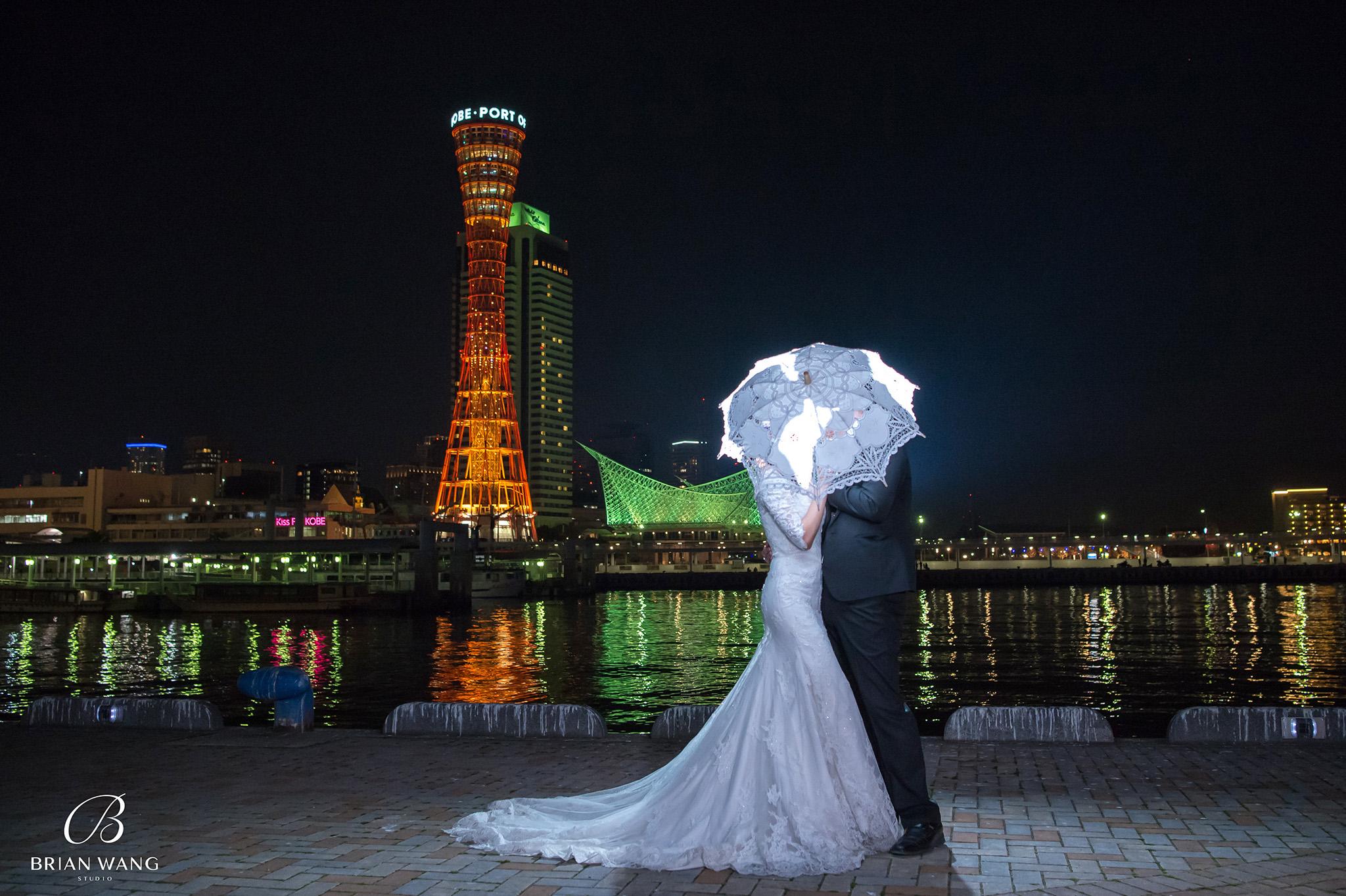 神戶婚紗,神戶港,日本櫻花