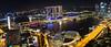 Marina Bay at Night (Ray in Manila) Tags: singapore marinabay nightshot night nightlife hotel asia pacific tropical water lights panorama eos650d efs24mm marinabaysands