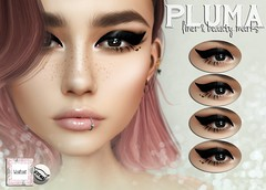 WarPaint* @ 4Mesh - Pluma liner & beauty marks (Mafalda Hienrichs) Tags: warpaint war paint eyeliner liner pluma beauty marks freckles heart catwa bento applier makeup secondlife