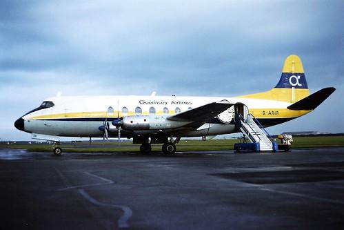 G-ARIR V Viscount Guernsey Airlines CVT 11-02-80
