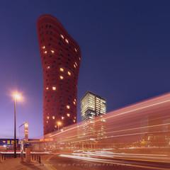 Hotel Porta Fira long exposure (sgsierra) Tags: barcelona hotel porta fira feria long exposure night city ciudad rojo lineas nikon d810 1424