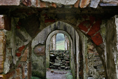 view through the past (jimx9999) Tags: irland countygalway ireland clifdencastle castle burg ruine ruin connemara