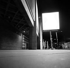 San Jose (bior) Tags: hasselblad500cm trix kodaktrix distagon 120 mediumformat 6x6cm street sanjose sidewalk billboard arena sharktank