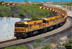 19 November 2017 P2508 P2514 P2501 loaded 1721 iron ore Geraldton Port (RailWA) Tags: railwa philmelling aurizon midwest p2508 p2514 p2501 loaded 1721 iron ore geraldton port
