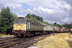 47519 + 47328 + 37010 Wigan CRDC 14th August 2005 (John Eyres) Tags: 47519 47328 37010 wigan crdc 14th august 2005 475194732837010atwigancrdcwithallreusablecomponantsremovedthelastfewlocosawaitremovaltocfboothsrotherhamwiththemasswithdrawalofolderdieselclassesbyewsduringthelate90s springsbranchbecamethemaincomponentrecoverydistributioncentrewiththeinfluxofclass66stakingovermostfreightthroughoutthecountryby2005ewshadfinishedstrippinglocomotivesandremovedalltheremainingdemicstobooths