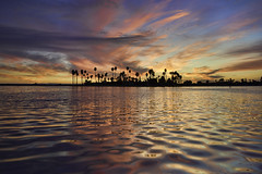 Prelude to a Dream (Lee Sie) Tags: sunset sky water clouds reflection ripples sandiego california coast seascape pacificbeach
