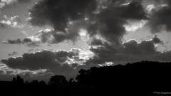 Friday morning clouds (frankdorgathen) Tags: landscape silhouette sky cloud sunrise autumn nature outdoor dawn bochum ruhrgebiet monochrome blackandwhite