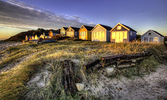 Mudeford Huts at Dawn (Nick L) Tags: mudeford beachhut beach dawn dawnlight dorset landscape wood dunes boats mudefordbeachhuts outdoor building hengistburyhead hengistbury uk
