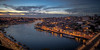 Porto Sunset (Fret Spider) Tags: honeymoon vacation portugal porto oporto sunset evening availablelight douro river bridge sky clouds sonya7rii wideangle ultrawideangle canonef24mmf14liiusm europe handheld