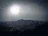 Eylesbarrow Light & Mist (vaughaag) Tags: dartmoor eylesbarrow cairn sunrise sun light tonal noir black white iphone7plus iphoneography wildcamping perambulation