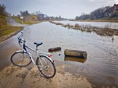 """Partially flooded """"Wartostrada"""" cycling path in Poznan, Poland (dominikpl72) Tags: poznan poznań poland polska polen wielkopolska bicycle cycling autumn"""