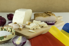 Romanian National Holiday - 1. December (Romeo Donca) Tags: romania food cheese flag holiday