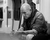 Man on Northern Line (JoshyWindsor) Tags: metro unitedkingdom man urban underground london tattoos fujinonxf35mmf14 streetphotography tube city person fujifilmxt10 northernline hunched contemplative