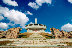 buzludzha monument in Bulgaria (filchist) Tags: buzludzha monument bulgaria болгария бузлуджа советскаяархитектура облака архитектура заброшенноездание soviet abandoned