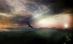 Looking far away (Photogioco) Tags: artwork romania mountains fun travel moonlight luna montagne cielo sky ciungetu valcea panorama vista landscape view scenery photo fotografia