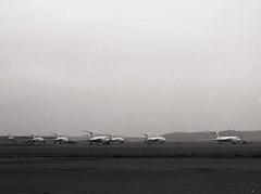 7 Royal Air Force Handley Page Victors (Ayronautica) Tags: 1961 april vforce vbomber handleypagevictor royalairforce raf bomber military egpk prestwick pik scanned aviation ayronautica