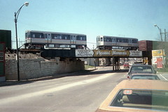 CTA L Car delivery via CNW 8-16-85 3 (jsmatlak) Tags: chicago cta l elevated subway metro train electric railway