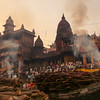 VARANASI (paologmb) Tags: burningghat tradition smoke street individuals mourning spirit ganga holy man urban soul varanasi india travel wood creepy river fire spiritual death benares