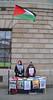 Flying the Flag (Owen J Fitzpatrick) Tags: palestine trump middle east palestinian nation independence nationalism freedom flag fly wall gpo stand jerusalem arab israel city owen j fitzpatrick joe nikon d3100 international affairs general post office eire ireland dublin street photography oconnell scarf bricks stone 1916