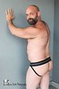 Hod (Levi Smith Photography) Tags: butt man jock josckstrap pose muscle hairy bear hair mens fashion beard bald cute handsome hot men back bicep arms smile shoulder shoulders ass nude