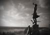 Lust auf Meer (elisachris) Tags: westerland sylt nordfriesland deutschland meer sea beach schwarzweis blackandwhite sepia himmel sky sehnsucht nostalgia longing fujifilm finepix z5fd natur nature nordsee northsea