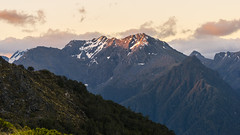 Dusk on the Kepler Track (redfurwolf) Tags: newzealand kepler track mountain landscape nature outdoor sunset dusk clouds sky snow ice redfurwolf sonyalpha a7r sal70200f28gii sony ngc sunsetlight