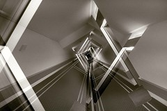 Hotel Corridor Architectural Abstract (Raphael de Kadt) Tags: hotel parkhotel badhomburg germany kurpark abstractphotography abstract doubleexposure blackwhite fujinonxf16mmf14 fujifilmxt2