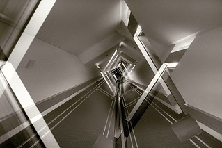 Hotel Corridor Architectural Abstract