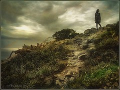 """Series """"Walking in Portugal"""". In waiting. (odinvadim) Tags: mytravelgram textured textures iphone editmaster travel iphoneography sunset evening iphoneonly painterly artist snapseed landscape specialist iphoneart graphic painterlymobileart autumn"""