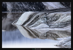 Icy Patterns (Ilan Shacham) Tags: landscape view scenic water reflection ice iceberg white black blue abstract shape form nature awe beauty fineart fineartphotography hoffelsarlon iceland