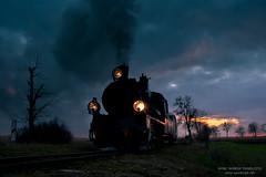 The end of the day 2/2 (ahimsia) Tags: px48 px481756 parowóz steam engine train pociąg sky niebo sunset clouds środa wielkopolska średzka kolej powiatowa poland polska canon railway evening wąskotorowa narrow gauge sun annopole