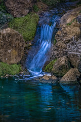 A blue waterfall