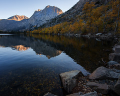 Fall colors at Silver Lake (Middle aged Nikonite) Tags: autumn colors reflections lake water fall forest trees rocks mountains vista nature landscape nikon d750 california silver