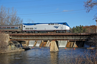 Amtrak Crossing the Huron River
