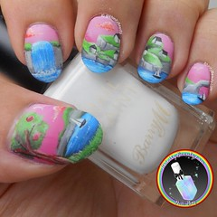 Clifftop Village (ithinitybeauty) Tags: nails nail art nailart manicure beauty blogger beautyblogger bblogger uk artist artistic creative nailpolish naillacquer day nailswag inspiration artwork design illustration acrylic painting style fashion trends cosmetics freehand