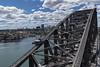 sky high (Greg Rohan) Tags: d750 2017 nikon nikkor bridge harbour water sea ocean blue clouds sky city buildings north sydney building architecture