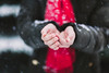 (Rebecca812) Tags: hands snow coat winter scarf red weather midsection colors armygreen canon people bodypart cupped rebeccanelson rebecca812