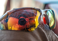 What I saw -5x7 (RoManLeNs) Tags: romrom rom romanlens portrait glasses hotday reflection reflect colors daytime day shades summer glass