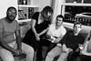 Poplar party (Gary Kinsman) Tags: bw blackwhite poplar london 2017 e14 eastlondon eastend fujix100t fujifilmx100t party houseparty flash dark evening dusk candid unposed highiso people person