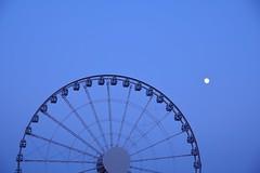 Ferris Wheel (superzookeeper) Tags: 5dmk4 5dmkiv hk hongkong canoneos5dmarkiv ef2470mmf28liiusm eos digital street ferriswheel moon central night sky skyline