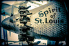 Spirit of St. Louis (Michael Shoop) Tags: michaelshoop stlouis saintlouis spirtofstlouis blackandwhite bw charleslindbergh aircraft airplane artdeco aviation missourihistorymuseum engine forestpark canon7dmarkii canon